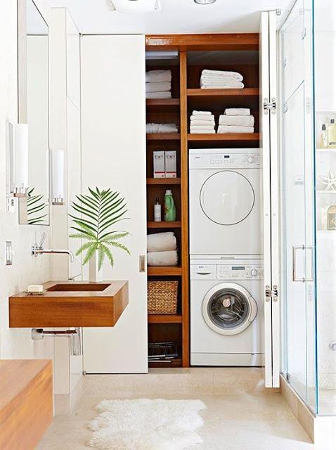 Uno spazio in casa per la lavanderia