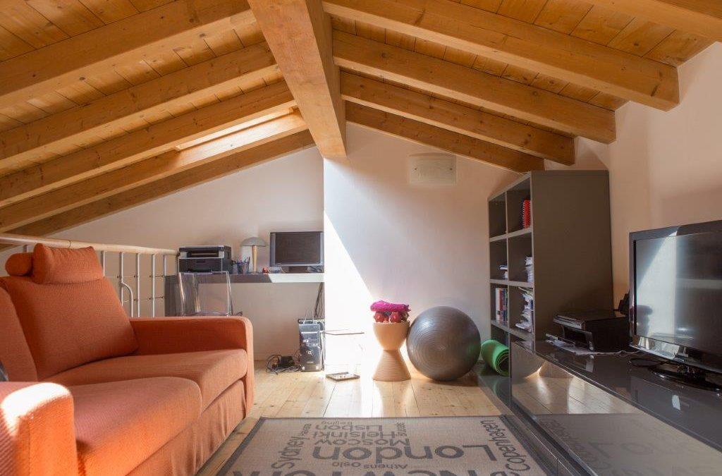 Una casa con soppalco